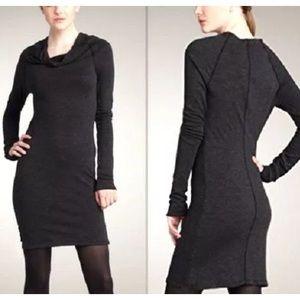 JAMES PERSE COWL NECK SWEATER DRESS Black 2